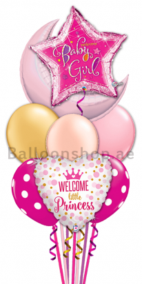 Luxury Baby Girl Newborn Balloon Bouquet