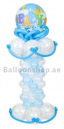 Elegant Baby Shower Balloon Arrangement (Boy)