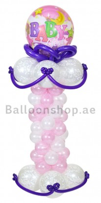 Elegant Baby Shower Balloon Arrangement (Girl)