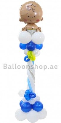 Hi Baby Boy New Born Balloon Column