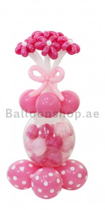Its a Girl Stuffed Balloon New Born Balloon Arrangement