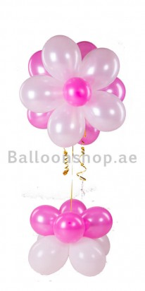 Misty Rose Baby Shower Balloon Arrangement