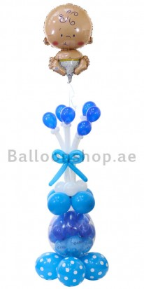 Stuffed Floating Baby Boy New Born Balloon Column