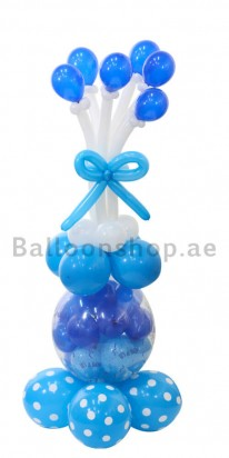 Baby Boy Decoration Baby Shower Balloon Column