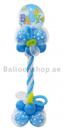 Baby Boy Pacifier Newborn Balloon Column