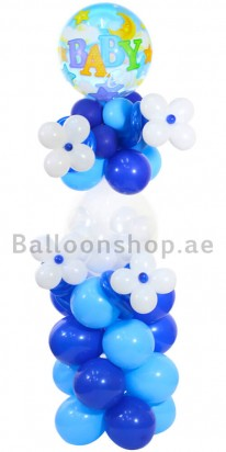 Baby Boy Newborn Balloon Arrangement