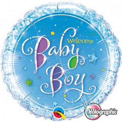 """18"""" Baby Boy Holographic Foil"""