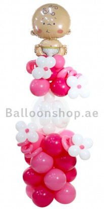 Baby Girl on Board Newborn Balloon Arrangement