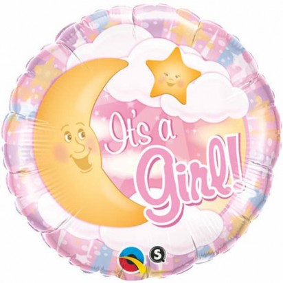 "18"" Its A Girl Celestial Pink"