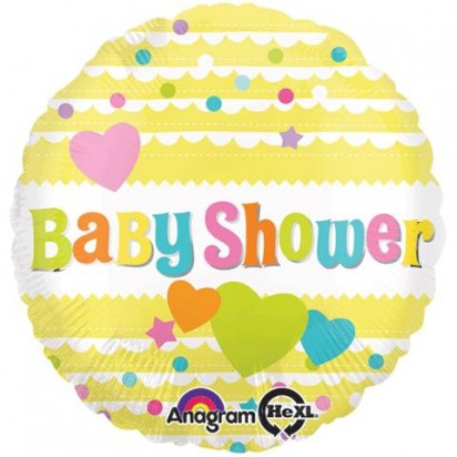 "18"" Baby Shower Yellow Helium Foil Balloon"