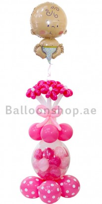 Balloons Girl Newborn Balloon Arrangement