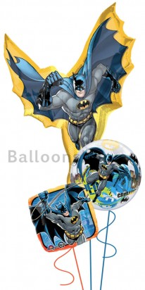 Batman Caped Crusader Jumbo Birthday Balloon Arrangement