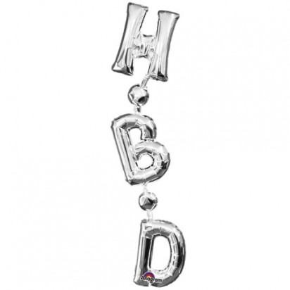 Happy Bday (Air-Filled) Silver Letter Foil Balloon