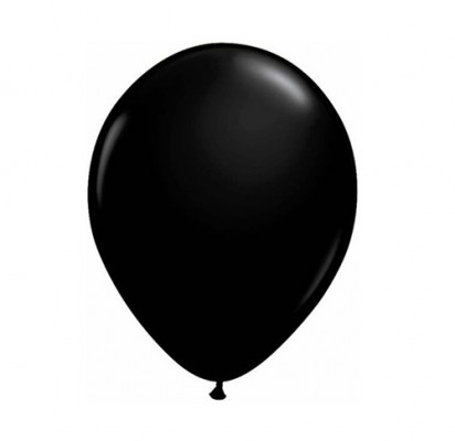 "11"" Black Helium Plain Latex Balloon"