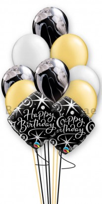 (12 Balloons) Black Agate