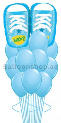 blue baby balloons