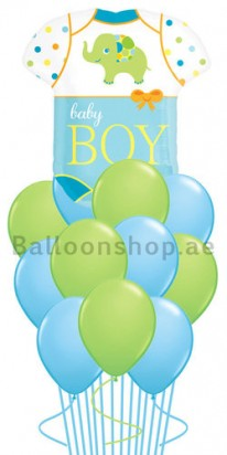 Jumbo Baby Boy Newborn Balloon Bouquet