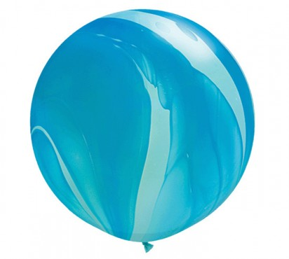 3ft. Super Agate Blue Large Helium Balloon (90cm)