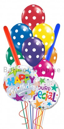 Birthday Color Blast (Special You) Balloon Arrangement