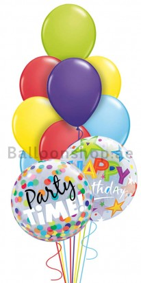 Birthday Party Time (Lets Party) Balloon Arrangement