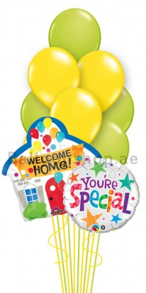 Mega Jumbo Home is Where the Heart Is Balloon Arrangement
