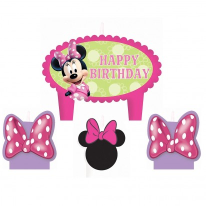 Minnie Mouse Bow Party Candles