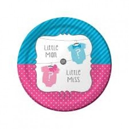 "7"" Bow Normal Party Plates (8ct)"