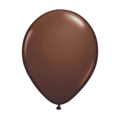 "11"" Chocolate Brown Plain Helium Latex Balloon"