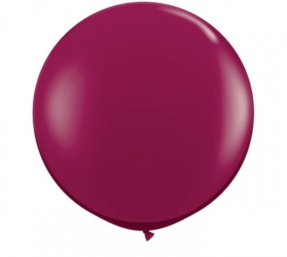 3ft. Sparkling Burgundy Large Helium Balloon (90 cm)
