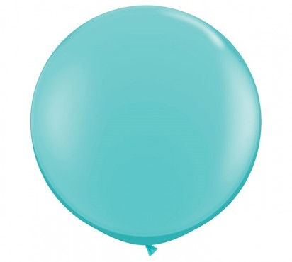 3FT - 90cm Large Caribbean Blue Helium Balloon