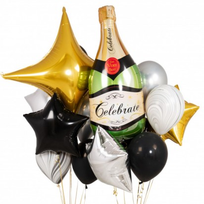 Luxury Champagne Party Balloon Bouquet
