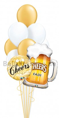 Cheers Birthday Balloon Bouquet