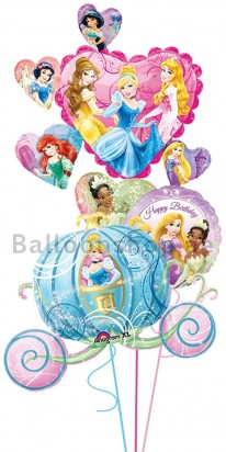 Cinderella Carriage Birthday Balloon Bouquet
