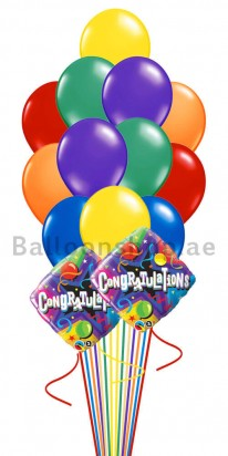 14 Balloons Congrats Balloon Bouquet