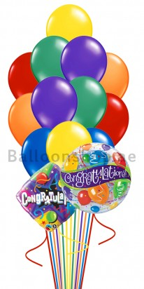 14 Balloons Congrats Bubble Balloon Bouquet