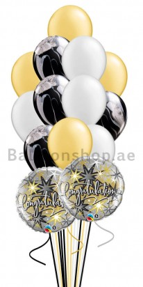 14 Balloons Congratulations Agate Balloon Bouquet
