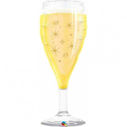"39"" Champagne Glass Shape Helium Foil Balloon"