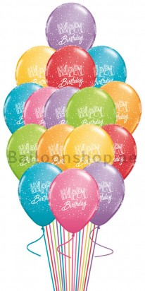 Happy Birthday Confetti Birthday Balloon Bouquet