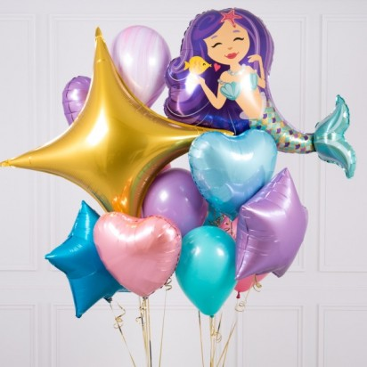 Enchanting Mermaid Balloon Bouquet