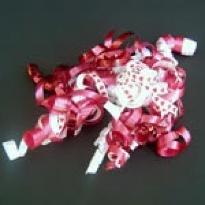 Curly Bow Red Hearts Party Accessories