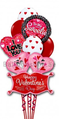 Happy Valentine Day - To My Sweetie Balloon Bouquet