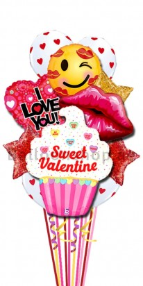 Sweet Valentine Kisses Balloon Bouquet