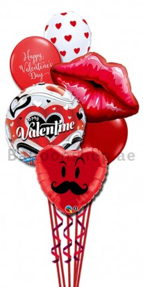 Mucho Valentine's Day Kisses Balloon Bouquet