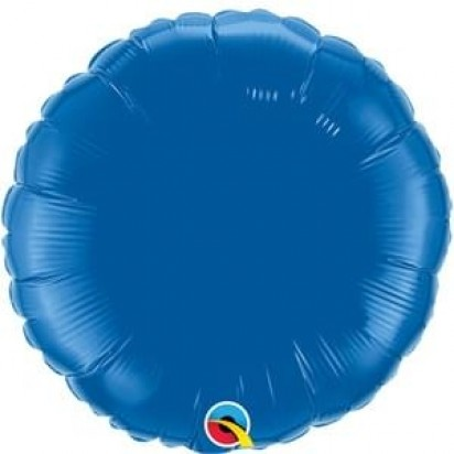 "18"" Dark Blue Round Helium Foil Balloon"