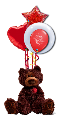 (Gund) World's Most Huggable  Teddy - Valentine's Day Balloon Bouquet