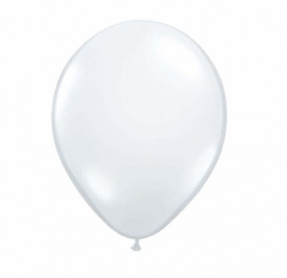 "11"" Transparent Clear Helium Plain Latex Balloon"