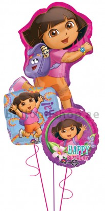 Dora the Explorer Birthday Balloon Arrangement