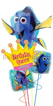 Personalized Finding Dory Girl Birthday Balloon Bouquet