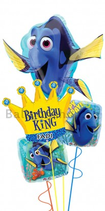 Personalized Finding Dory Boy Birthday Balloon Bouquet