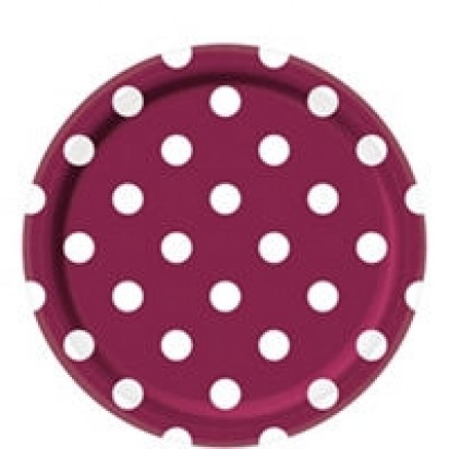 "8"" Dots Berry Normal Party Plates (8ct)"